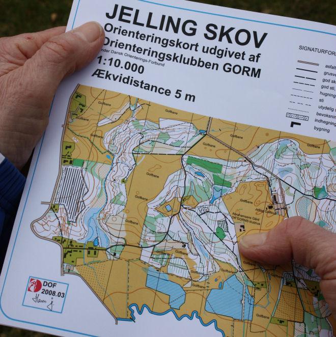Orienteringskort - Jelling Skov