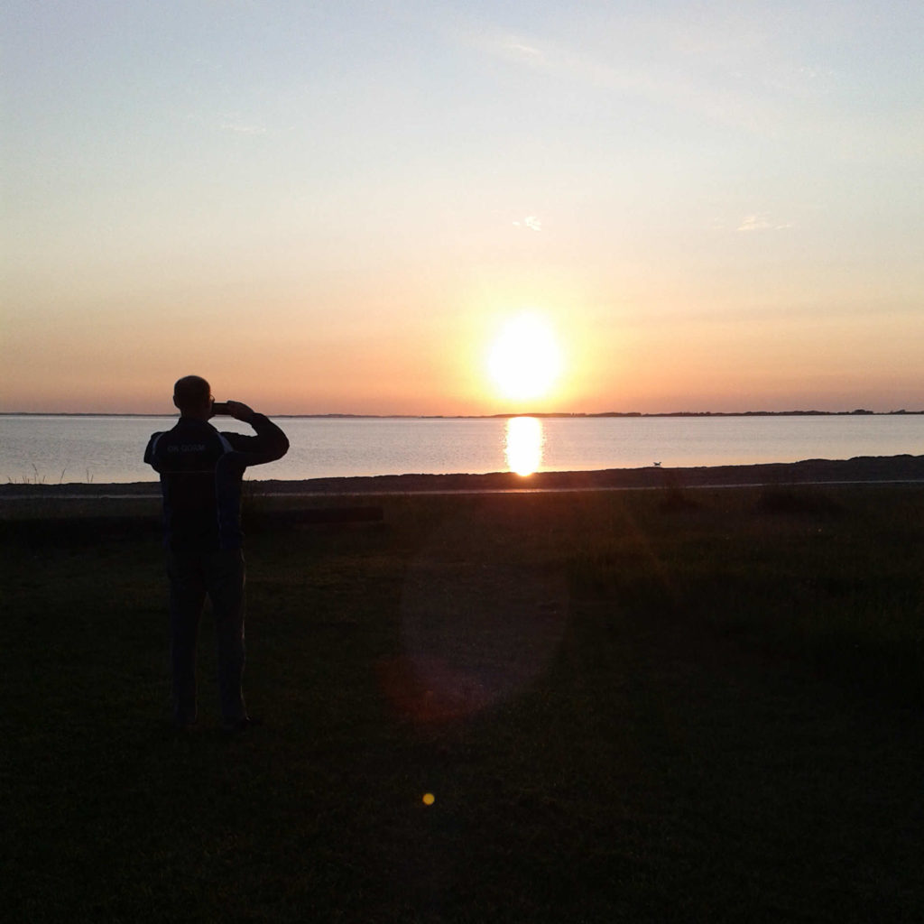 Solnedgang over Lillebælt